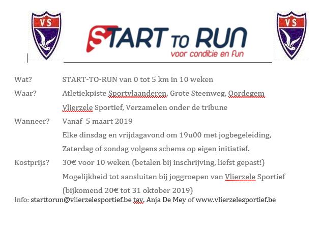 Start to run lente 2019
