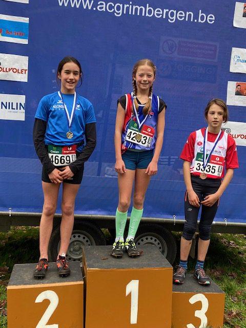 Veldloop Grimbergen: 1x goud, 3x zilver &  1x brons