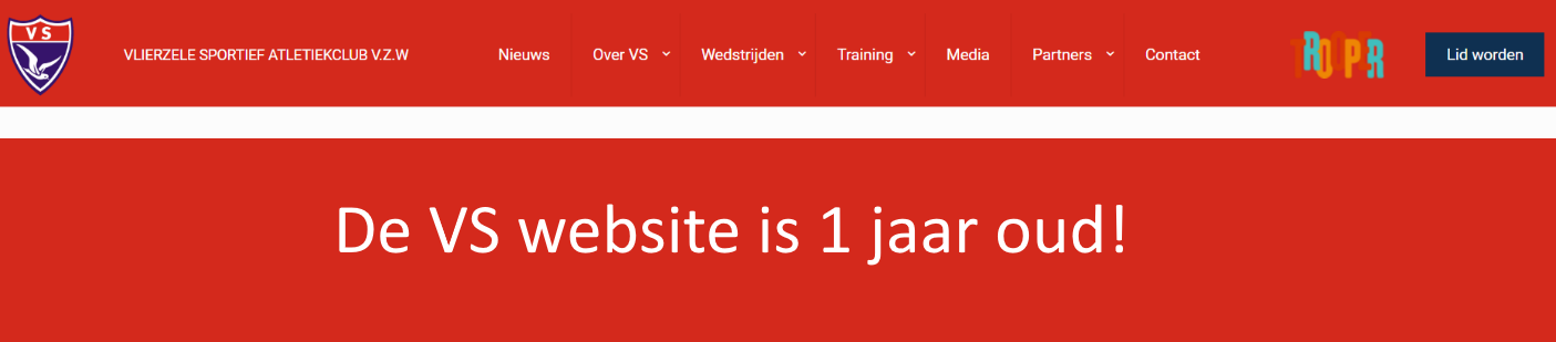 VS website 1 jaar