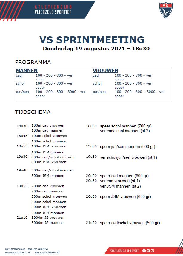 Sprintmeeting 19 augustus 2021